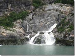 Alaska Cuise Waterfall in Fjord